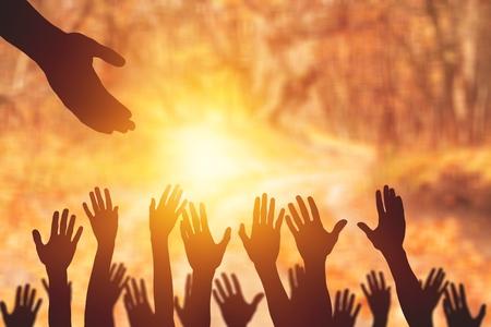 International Human Solidarity Day concept: helping hand concept and international day of peace - Image