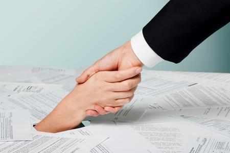 Financiële hulp concept Stockfoto