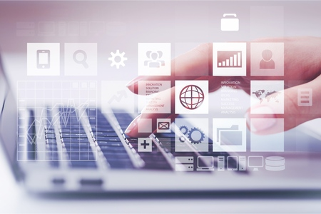Web design tablet background hosting screen laptop 版權商用圖片