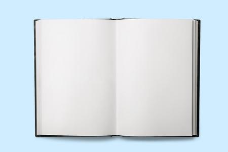 Apri il vecchio libro con fogli bianchi Archivio Fotografico