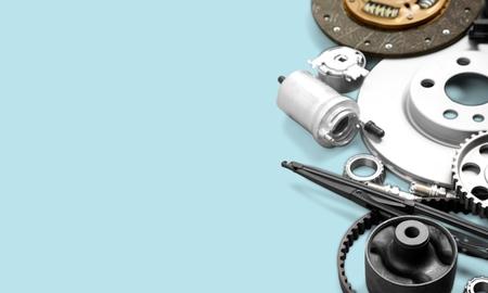 Set of  Car parts on background Stock Photo