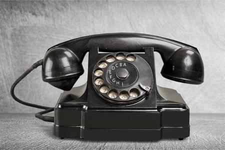 Oficina: Teléfono Negro Foto de archivo