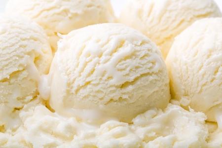Palline per gelato alla vaniglia Archivio Fotografico