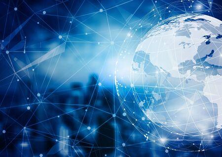 Ville intelligente et concept de réseau mondial