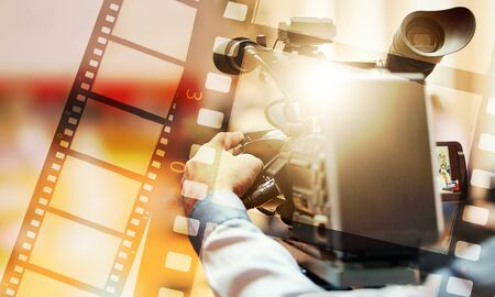 Film actor background broadcast camera cinema commercial 版權商用圖片