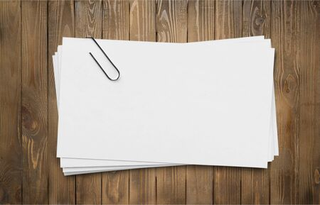 Stack of Blank Cards with paper Clip.