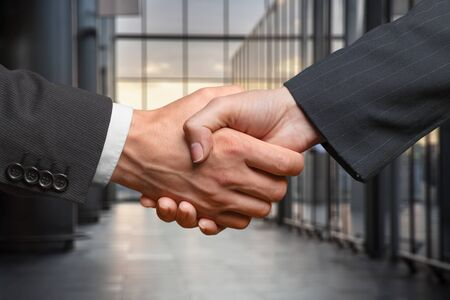 Business hand handshake