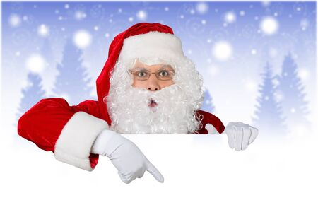 Portrait of santa claus on christmas background Stockfoto - 124930043