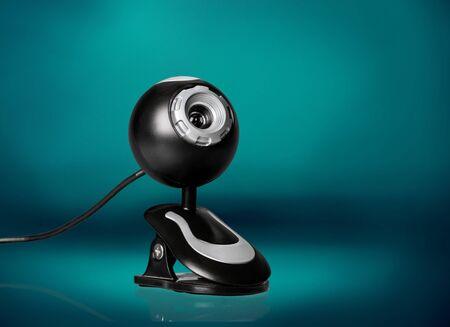 Black computer webcam