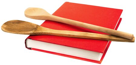 Red Cookbook and Kitchenware - Isolated