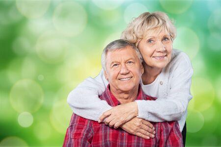 Portrait of happy senior couple smiling