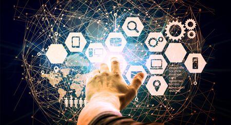 Data Management Platform concept Stock Photo