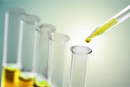 Oil test analysis beaker bio bio diesel biotechnology Stock Photo