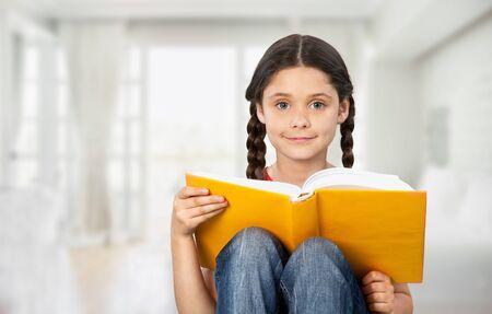 Education and school concept - little student Фото со стока