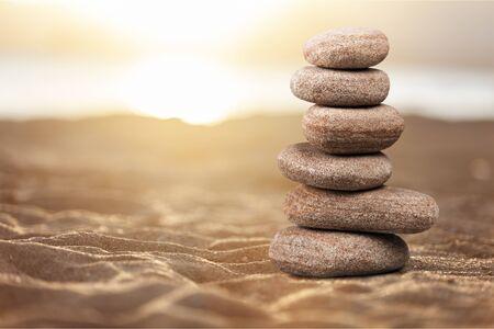 Zen basalt stones on background Standard-Bild