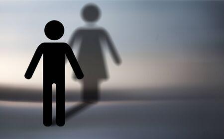 Silhouette transgender concept Imagens