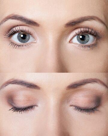 Gros plan sur les yeux de la femme Banque d'images