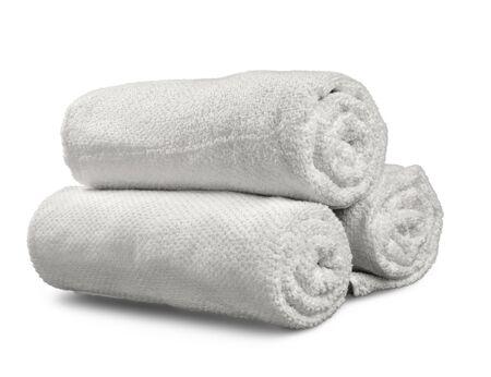 Opgerolde handdoeken