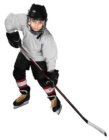 Young hockey player Stock Photo