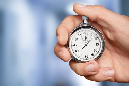 Stopwatch in Human Hand, Timer