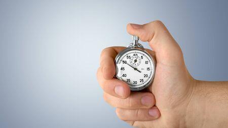 Cronómetro en mano humana