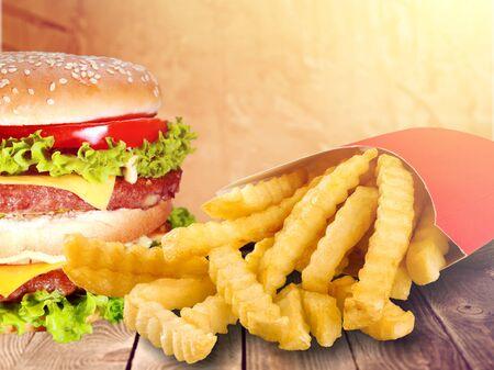 fast food on the table Reklamní fotografie