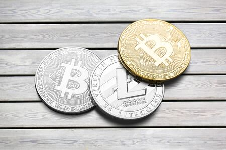Ð¡ryptocurrency coins - Litecoin, Bitcoin