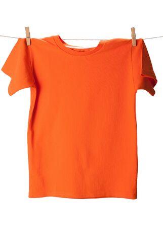 Orange T-Shirt on Clothes Line