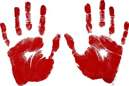 Red Handprints - Isolated