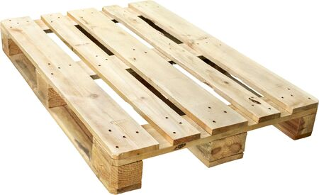 Wooden Shipping Pallet - Isolated