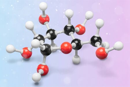 Science Molecular DNA Model Structure on background