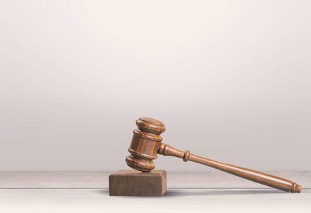 Retro judge wooden gavel