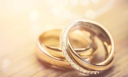 Engagement rings on desk