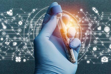 Cannabis testing marijuana science cbd legalize background