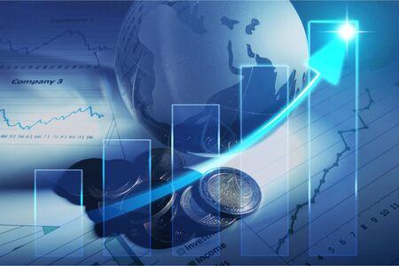 global finances concept 免版税图像