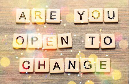 Êtes-vous prêt à changer de citation avec des lettres de scrabble