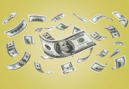 Falling Currency Money Standard-Bild - 127955057