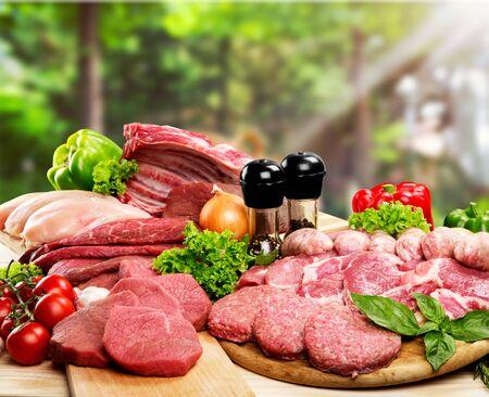 Vers rauw vlees achtergrond op achtergrond