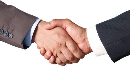Geschäftsleute, die Hände schütteln - isoliert