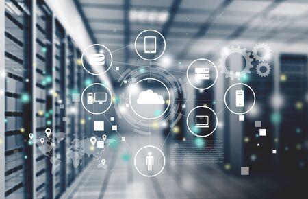Résumé des données internet modernes de haute technologie Banque d'images