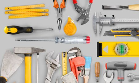 Different tools for work on table