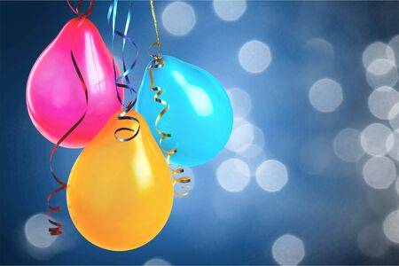 Colorful Balloons on abstract background Imagens