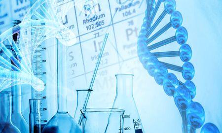 Tubos de ensayo de laboratorio de ciencia, equipo de laboratorio