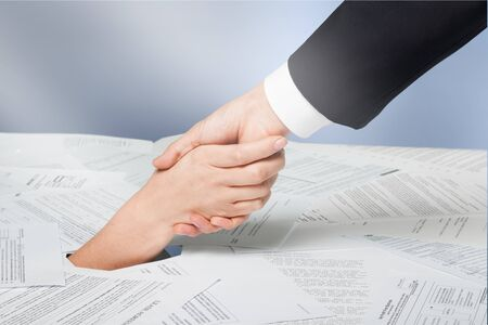 Business Agreement Handshake concept on  background Stock Photo