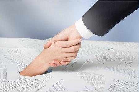Business Agreement Handshake concept on  background Banco de Imagens
