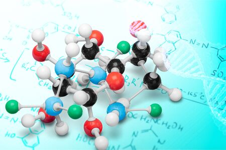 Close up of Molecular structure model on background Stock fotó