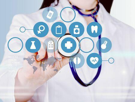 Young doctor woman holding stethoscope Reklamní fotografie