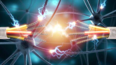 Human Nervous System concept Stockfoto