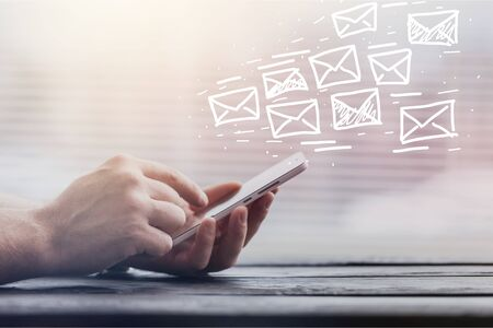 Email marketing and newsletter concept Stock fotó
