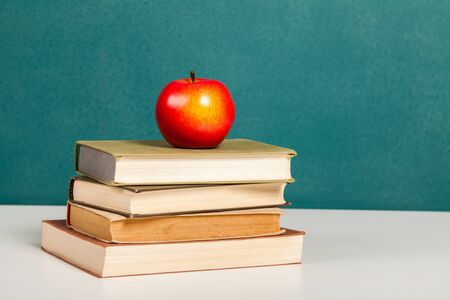 School Days with books and apple